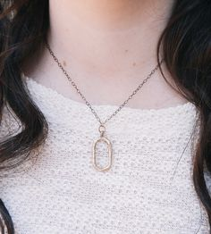 Hand-Cast Oval Necklace by Andie Ashe on Scoutmob