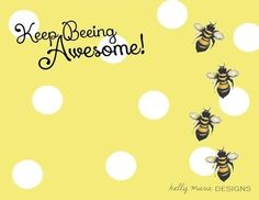 Bee AWESOME: recruiting Post Card