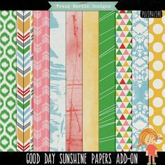 FREE Good Day Sunshine Papers Add-On by Tracy Martin Scrapbook Designs Facebook Freebie