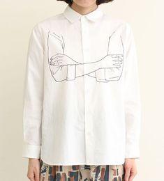 folded arms shirt