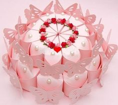 Double-deck Wedding Candy Boxes Paper Boxes Cake Shape Gift Wrap with Flower Wedding Candy Boxes, Wedding Favors Cheap, Card Box Wedding, Wedding Gifts, Wedding Cake, Wedding Stuff, Candy Crafts, Paper Crafts, Cake Shapes