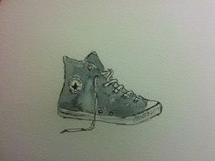 Day 27 - Converse Trainer — Jennifer Jackson Art