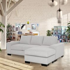 Melrose Reversible Chaise Sofa CHOICE OF FABRICS – Apt2B
