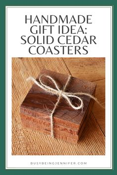 DIY Solid Cedar Wood Coasters - A Quick and Easy DIY Gift for Men! DIY Solid Cedar Coasters are perfect for the Den or Man Cave! Diy Gifts For Men, Diy For Men, Easy Diy Gifts, Handmade Gifts, Cedar Wood, Wood Coasters, Easy Projects, Stocking Stuffers, Man Cave