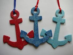 nautical christmas ornaments by gretchent on Etsy