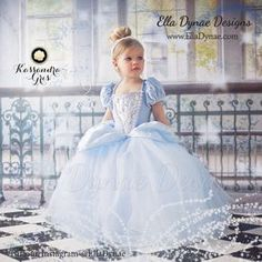 Cinderella Costume Classic Princess Gown Tutu Dress by EllaDynae