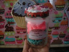 deco jar with melts by heidycountrycandle on Etsy, $10.00
