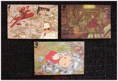 "Mini Carte ghibli totoro kiki chihiro arrietty ponyo mononoké asiatique ""modéle 4"" x1 : Papeterie, carterie par lilycherry"