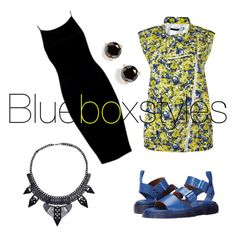 """""""The names Yellow, Last name Blue."""" by bluebox1994 on Polyvore featuring Dr. Martens, Sportmax and Kate Spade"""
