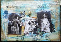 art journal, paper craft, journal mix, craft idea, mix media