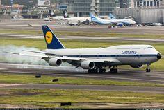 Lufthansa Boeing 747-830 landing at Mexico City (MEX) from Frankfurt (FRA). ✈  www.wingsnews.org