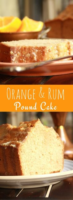 This moist citrusy pound cake is made with fresh oranges, laced with rum and topped with a spiked, sugary glaze!