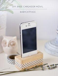 Babycatface DIY: BASE CARGADOR MÓVIL