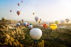 A fascinating and breathtaking view of the Cappadocia morning breeze, in Turkey. (© Reynaldi Herdinanto/National Geographic Traveler Photo Contest) #