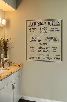 Home Interior Salas .Home Interior Salas Bathroom Decals, Zen Bathroom, Bathroom Rules, Bathroom Plants, Bathroom Humor, Diy Bathroom Decor, White Bathroom, Bathroom Interior, Bathroom Organization