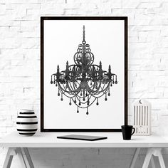 Printable Art Fashionista Print Chandelier by LifeAndStylePrint