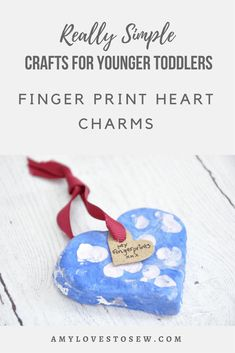 Use this salt dough recipe to create lovely heart charms with your toddler.  They make perfect keepsakes and presents for family and friends, especially if you decorate them with your children's fingerprints.  A fun craft activity for your toddler and you to share together. #todddlercraft #saltdoughideas