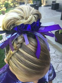 Gymnastics hair! Braids!