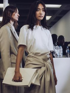 Backstage at Joseph SS16