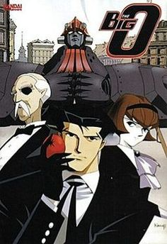 Anime based on manga: Roger Smith operates as a negotiator in Paradigm City, a world with no past. When flashbacks occur and people cannot deal with them, Roger enters a giant mecha, the Big O, to battle other hulking robots.