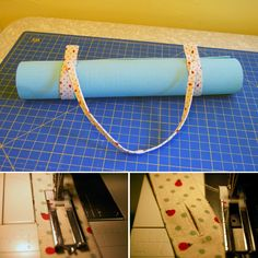 "DIY yoga mat strap- so I don't have to bring my big yoga bag with me! I made mine wider (5"") and longer (30""), but it could have used another inch or so of length"