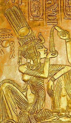 *ANKESENAMUN:  born the 3rd daughter of Akenaten + Nefertiti. History tells us that there were at least 6 known daughters born to this famous couple; Mertaten, Meketaten, Ankhesenpaaten, Nefernefruaten, ta-Sherit, Neferefrure + Setepenre. The first 3 daughters appear to have had a more prominent position in the family hierarchy as they are depicted more frequently in pictures than the last 3.It appears that Akenaten,
