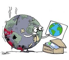 Why are we hurting our planet? Why don't we learn and try. Why are we hurting our planet? Why don't we learn and try to restore our w - Save Our Earth, Save The Planet, Our Planet, Planet Earth, Salve A Terra, Environmental Art, Faith In Humanity, Political Cartoons, Global Warming