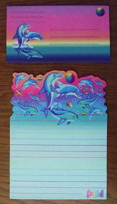 Lisa Frank Dolphin Stationary Paper 6 Envelopes | eBay