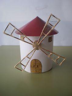 Manualidad con rollo de papel el molino de viento el for Como hacer molinos de viento para el jardin