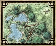 Swamp & Burrow (Digital Gridded Version)