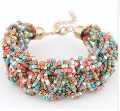 Beaded Bracelet Bangle