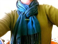 Great way to wear a scarf - and useful description on how to.