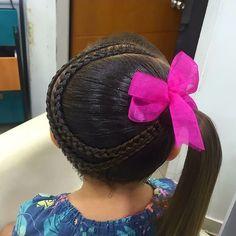 Untitled Little Girl Hairdos, Girls Hairdos, Cute Hairstyles, Straight Hairstyles, Braided Hairstyles, Tight Braids, Aiko, Little Princess, Hair Cuts