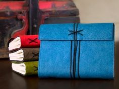Handmade journals are the perfect vessels for recording your ideas, travel notes, and everyday observations. http://www.dailygrommet.com/products/marine-paper-handmade-journals