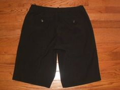 WOMENS 8P petite WORTHINGTON black SHORTS stretchy DRESSY #Worthington #DressShorts