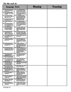 Kindergarten Common Core Lesson Plans | Kindergarten Common Core Weekly Lesson Plan