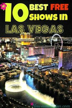 """Every casino is vying for your attention and cash, and they do this with flashing lights, show girls and free entertainment.  Take advantage of this healthy competition and enjoy some of the many """"freebies"""" Vegas has to offer.  Below are my favorite free shows, some of which are nice enough to charge admission (don't get any ideas Las Vegas)! #Travel #LasVegas #Freeshows #TopTen"""