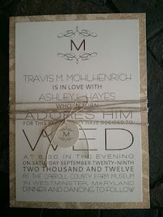 Rustic Wedding Invitation :: Perfect for a not so formal wedding