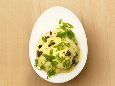 Truffled Deviled Eggs recipe from Anne Burrell via Food Network