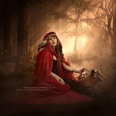 Lonely Little Red Riding Hood by Maegorzata Scimborsca