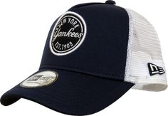 NY Yankees New Era MLB Emblem Navy Blue Trucker Cap - pumpheadgear Yankees  De Nueva York c94fce75c59