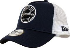 NY Yankees New Era MLB Emblem Navy Blue Trucker Cap - pumpheadgear Yankees  De Nueva York b7b25722bec