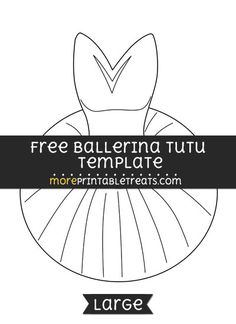 pin the tutu on the ballerina template - printable lollipop template from