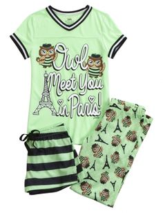 Owl Paris Pajama Set