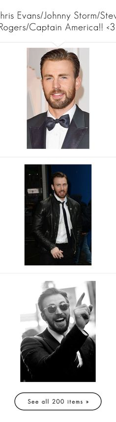 """""""Chris Evans/Johnny Storm/Steve Rogers/Captain America!! <3!"""" by kelseystan97 ❤ liked on Polyvore featuring chris evans, boys, chris, marvel, boy, captain america, avengers, famous, icon and celebs"""