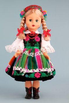 DreamWorld Collections Lowiczan Girl (Lowiczanka) - 18 Inch Collectible Regional Doll : Regional Dolls
