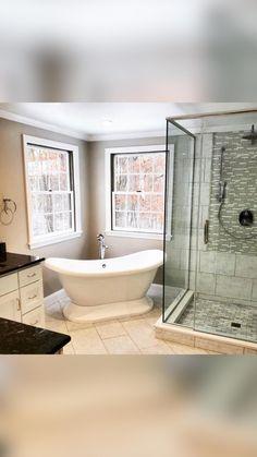Tub Remodel, Master Bath Remodel, Shower Remodel, Remodel Bathroom, Bathroom Renovations, Modern Farmhouse Bathroom, Modern Bathroom Design, Bathroom Interior Design, Farmhouse Interior