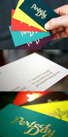 Fantastic Typography On A Hot Foil Stamped Business Card