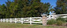 Crossbuck Vinyl Horse Fence|Farm Fence|