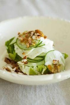 NOMU Baby Gem, Gorgozola and Spicy Caramelized Pecan Nut Salad